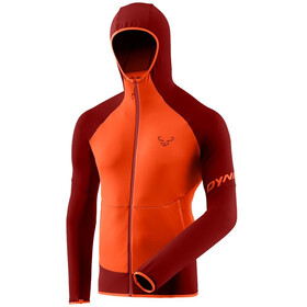 Dynafit Transalper Light Polartec Capuchon Jas Heren, red dahlia/4490